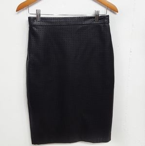 Banana Republic Perforated Faux Leather Skirt Sz 4